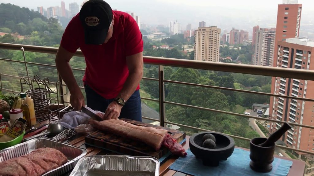 hacer asado en un balcon